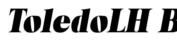 шрифт ToledoLH Bold Italic, бесплатный шрифт ToledoLH Bold Italic, предварительный просмотр шрифта ToledoLH Bold Italic