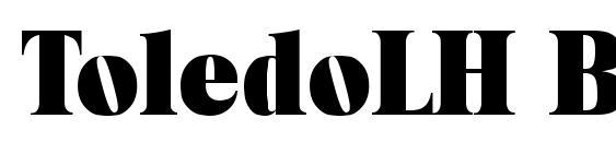 Шрифт ToledoLH Bold