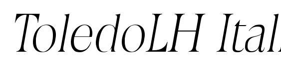 Шрифт ToledoLH Italic