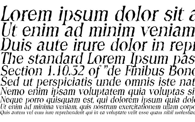 specimens ToledoRandom Italic font, sample ToledoRandom Italic font, an example of writing ToledoRandom Italic font, review ToledoRandom Italic font, preview ToledoRandom Italic font, ToledoRandom Italic font
