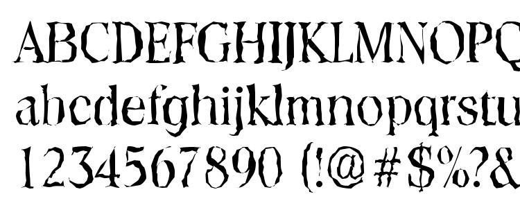 glyphs ToledoRandom Regular font, сharacters ToledoRandom Regular font, symbols ToledoRandom Regular font, character map ToledoRandom Regular font, preview ToledoRandom Regular font, abc ToledoRandom Regular font, ToledoRandom Regular font