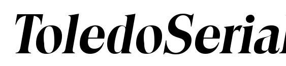 ToledoSerial BoldItalic Font