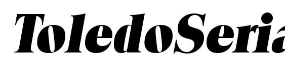 ToledoSerial Heavy Italic Font