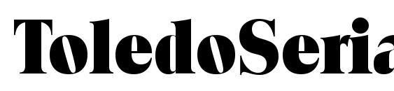 ToledoSerial Heavy Regular Font