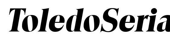 Шрифт ToledoSerial Xbold Italic
