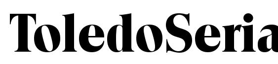 ToledoSerial Xbold Regular Font