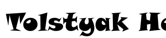 Tolstyak Heavy Font