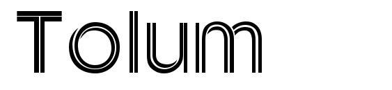 Шрифт Tolum