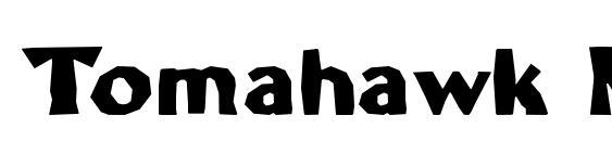 шрифт Tomahawk MF, бесплатный шрифт Tomahawk MF, предварительный просмотр шрифта Tomahawk MF