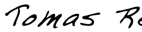Шрифт Tomas Regular