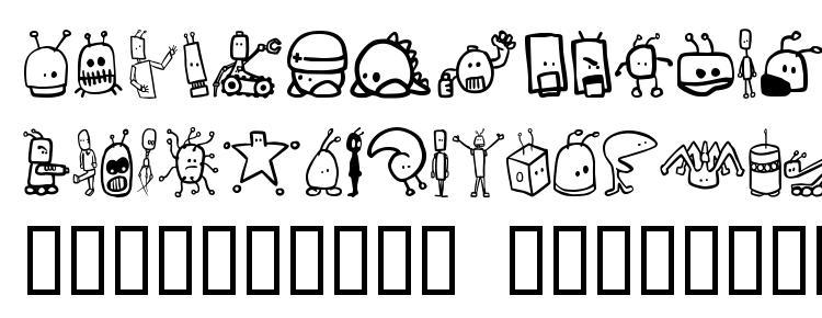 глифы шрифта Tombots, символы шрифта Tombots, символьная карта шрифта Tombots, предварительный просмотр шрифта Tombots, алфавит шрифта Tombots, шрифт Tombots