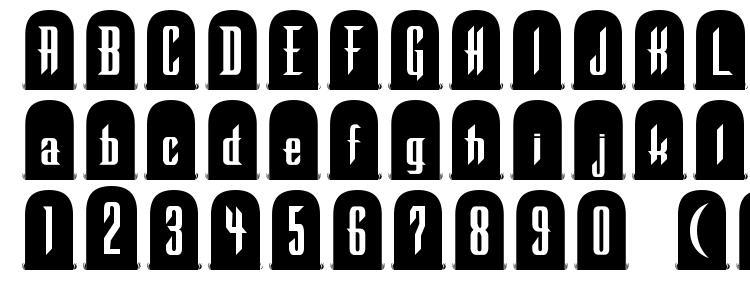 glyphs Tombstone Regular font, сharacters Tombstone Regular font, symbols Tombstone Regular font, character map Tombstone Regular font, preview Tombstone Regular font, abc Tombstone Regular font, Tombstone Regular font
