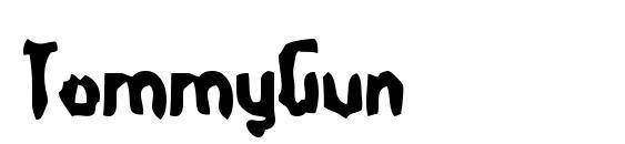 TommyGun font, free TommyGun font, preview TommyGun font