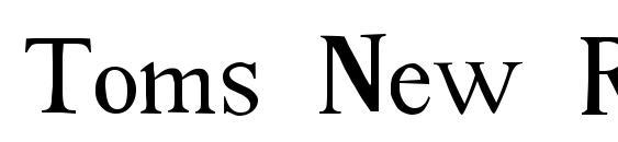Шрифт Toms New Roman