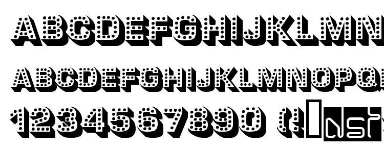 глифы шрифта Tonight, символы шрифта Tonight, символьная карта шрифта Tonight, предварительный просмотр шрифта Tonight, алфавит шрифта Tonight, шрифт Tonight