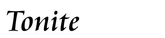 Шрифт Tonite
