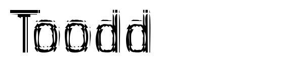 Шрифт Toodd