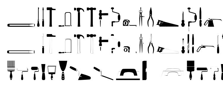 glyphs Tools regular font, сharacters Tools regular font, symbols Tools regular font, character map Tools regular font, preview Tools regular font, abc Tools regular font, Tools regular font