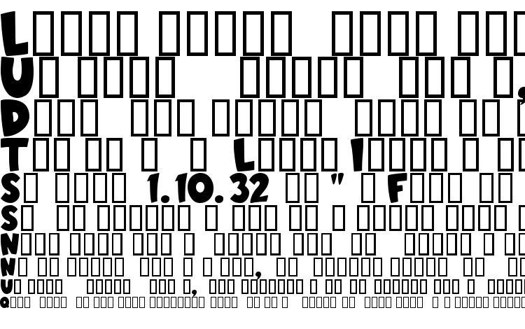 образцы шрифта Toon, образец шрифта Toon, пример написания шрифта Toon, просмотр шрифта Toon, предосмотр шрифта Toon, шрифт Toon
