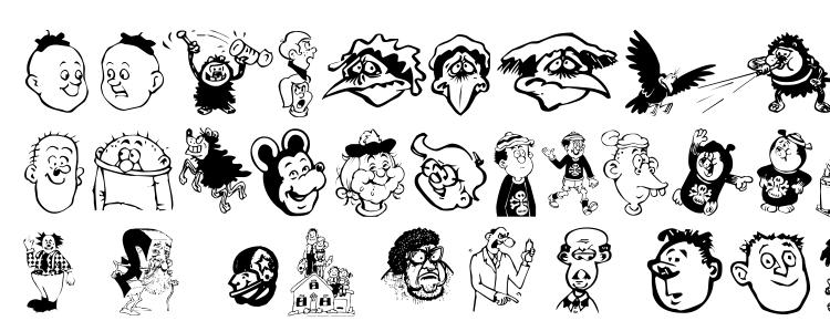 glyphs Toons One font, сharacters Toons One font, symbols Toons One font, character map Toons One font, preview Toons One font, abc Toons One font, Toons One font