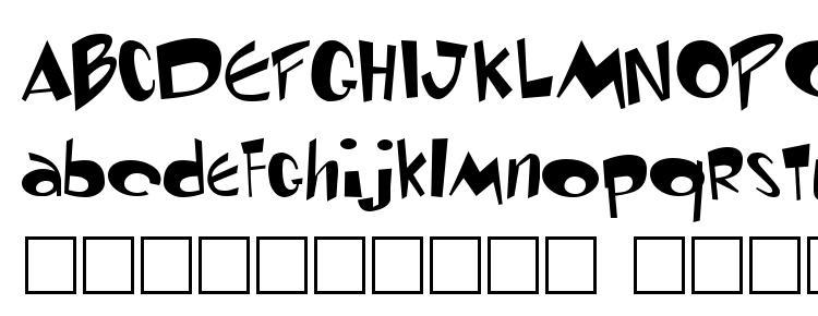глифы шрифта Toontime Regular, символы шрифта Toontime Regular, символьная карта шрифта Toontime Regular, предварительный просмотр шрифта Toontime Regular, алфавит шрифта Toontime Regular, шрифт Toontime Regular