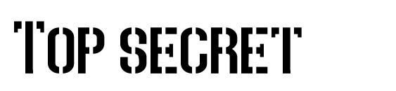 Top secret font, free Top secret font, preview Top secret font