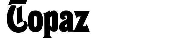 шрифт Topaz, бесплатный шрифт Topaz, предварительный просмотр шрифта Topaz