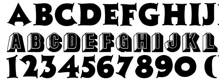 глифы шрифта Tophat, символы шрифта Tophat, символьная карта шрифта Tophat, предварительный просмотр шрифта Tophat, алфавит шрифта Tophat, шрифт Tophat