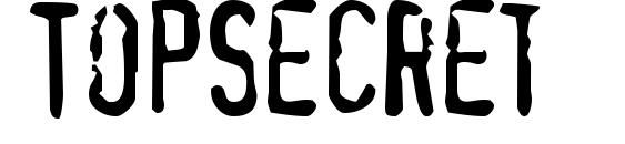 Шрифт TopSecret