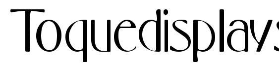 Toquedisplayssk Font