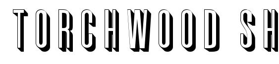 Torchwood Shadow font, free Torchwood Shadow font, preview Torchwood Shadow font