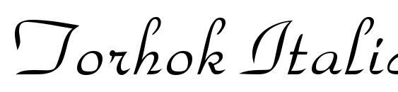 Шрифт Torhok Italic.001.001