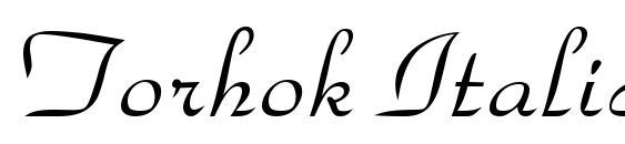 шрифт Torhok Italic, бесплатный шрифт Torhok Italic, предварительный просмотр шрифта Torhok Italic