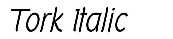 Шрифт Tork Italic