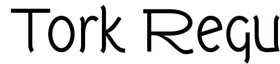 шрифт Tork Regular, бесплатный шрифт Tork Regular, предварительный просмотр шрифта Tork Regular