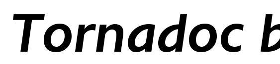 Шрифт Tornadoc bolditalic