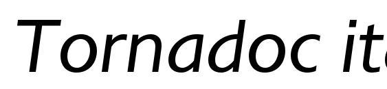 Шрифт Tornadoc italic