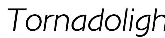 Шрифт Tornadolightc italic