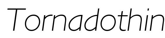 Tornadothinc italic Font