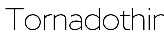 шрифт Tornadothinc, бесплатный шрифт Tornadothinc, предварительный просмотр шрифта Tornadothinc