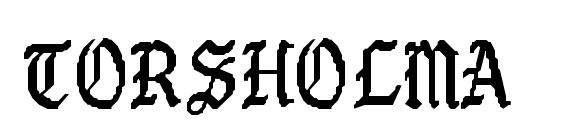 TORSHOLMA Regular Font