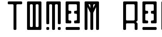 Шрифт Totem Regular