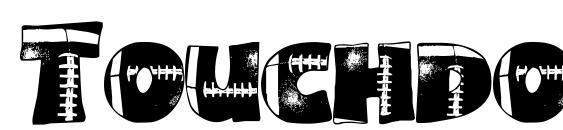 Touchdown Font