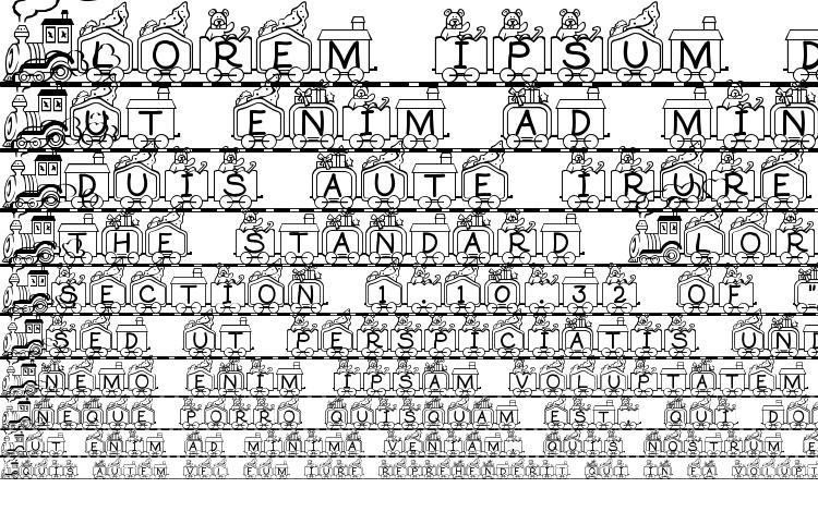 образцы шрифта Toy train, образец шрифта Toy train, пример написания шрифта Toy train, просмотр шрифта Toy train, предосмотр шрифта Toy train, шрифт Toy train