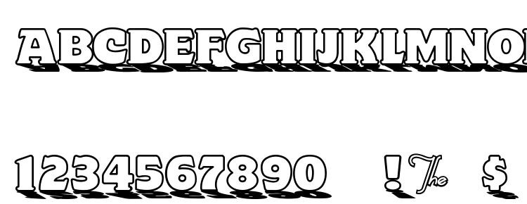 glyphs Toyland OutlineA font, сharacters Toyland OutlineA font, symbols Toyland OutlineA font, character map Toyland OutlineA font, preview Toyland OutlineA font, abc Toyland OutlineA font, Toyland OutlineA font
