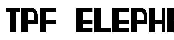 Tpf elephant Font