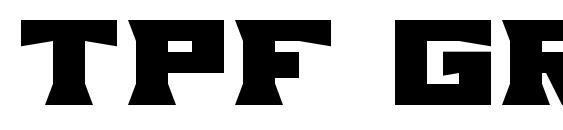 Tpf grum mel Font