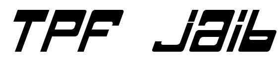 Tpf jaib bold italic Font