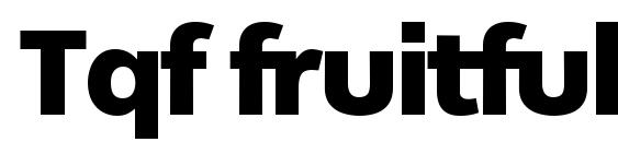 Шрифт Tqf fruitfulblack