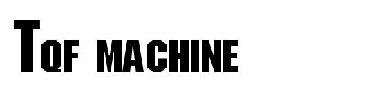 Шрифт Tqf machine